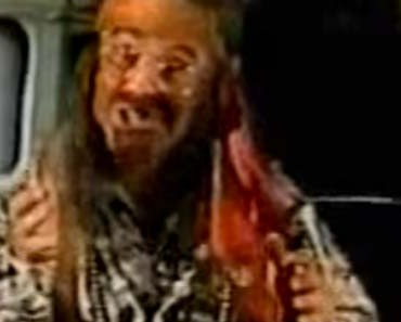 Photo of Michael Beard as the hippie from the Freedom Rock commercial.