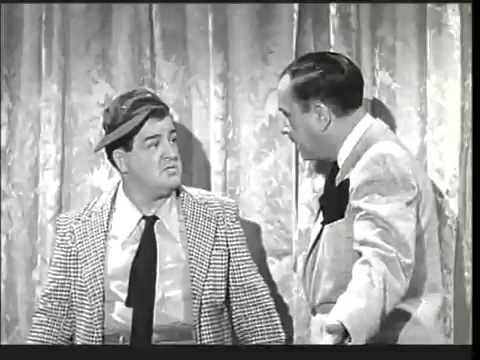 Photo of Abbott and Costello performing Who's On First.